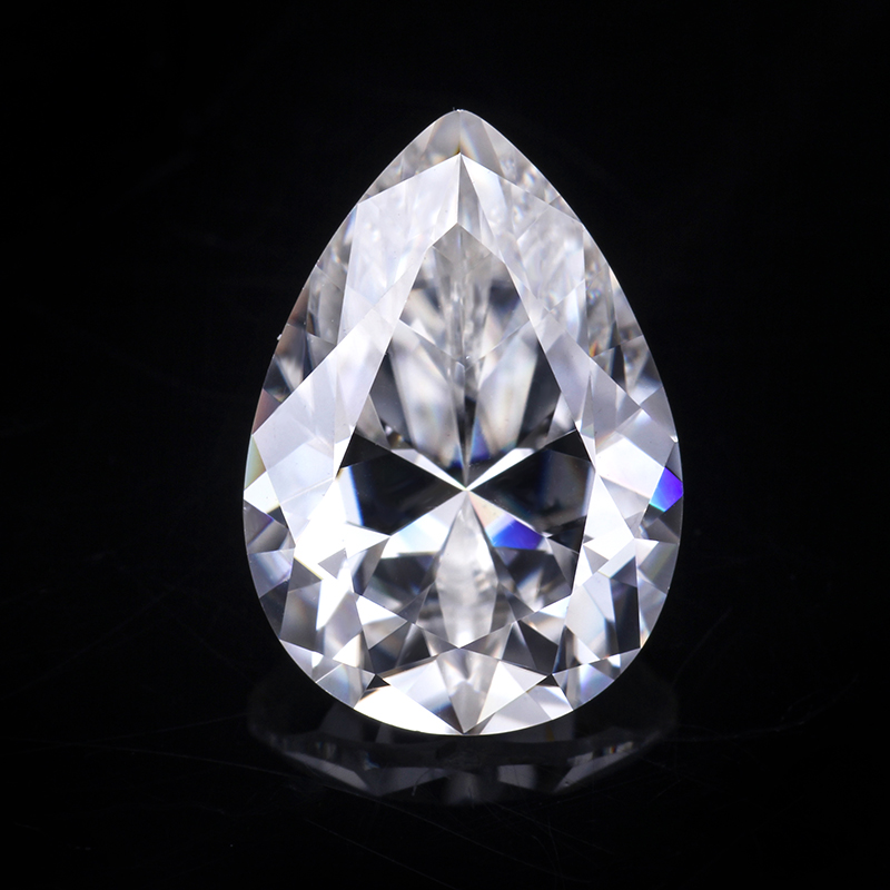 Factory Wholesale Pear Shape Loose Moissanite Stone