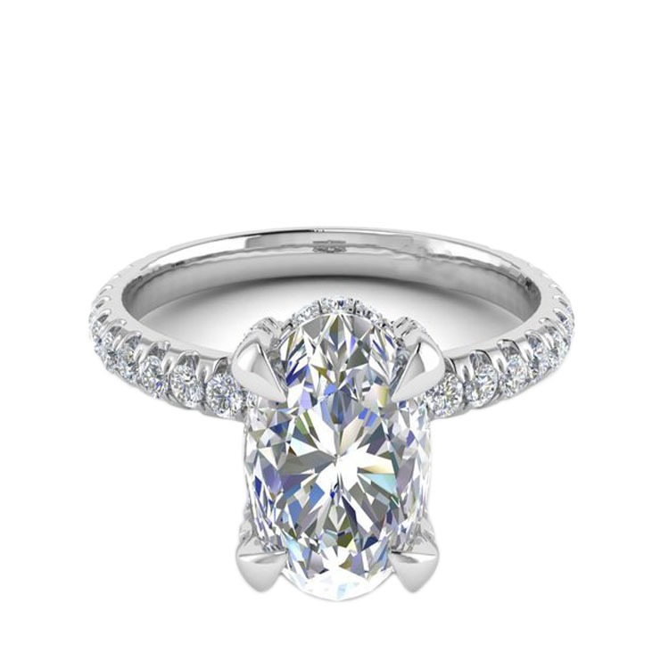 Wholesale Oval Moissanite Diamond Wedding Ring