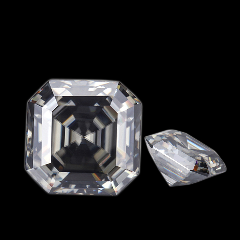 Wholesale Loose Gray Moissanite Asscher Cutting