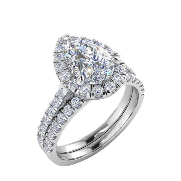 Wholesale 1ct D Color Moissanite Ring Wedding Jewelry